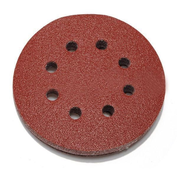 50pcs 125mm orbital sander sandpaper discs 40,60,80,100,120g grit sanding new