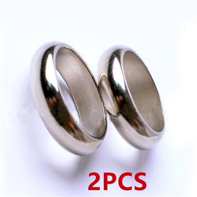 2PCS N52 Strong NdFeB Silver Magnetic ring Magic Permanent Neodymium magnet Props inside diameter 18mm 19mm 20mm 21mm