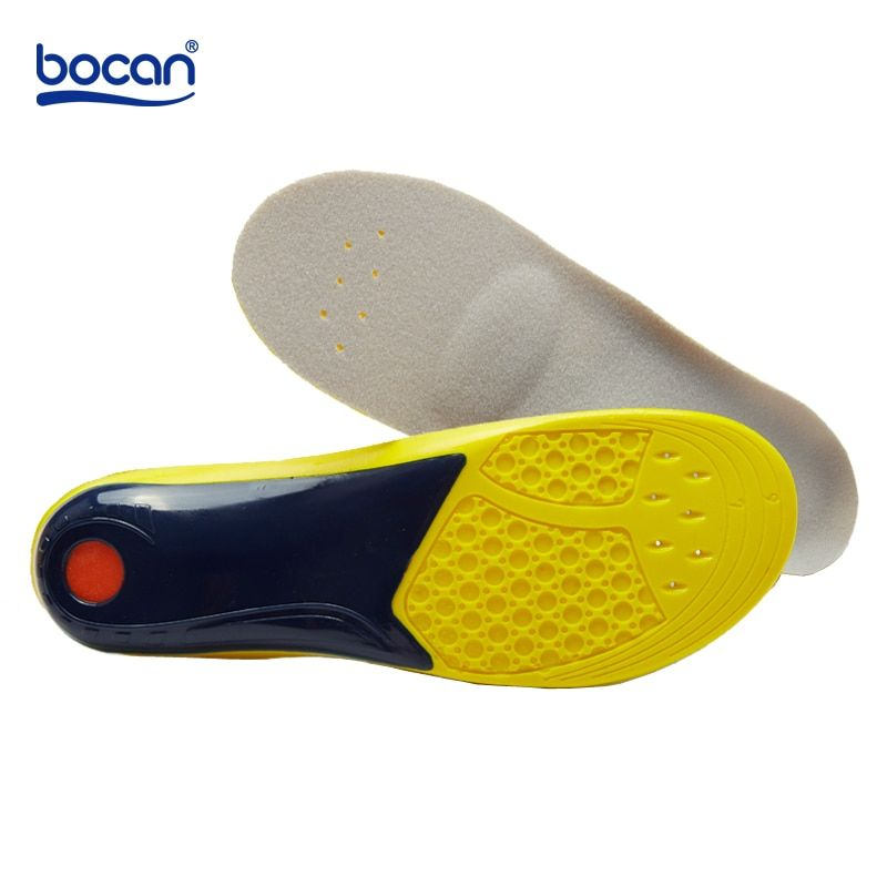 BOCAN Orthopedic insoles for shoes man and women flat foot insoles arch support shock absorption 7741