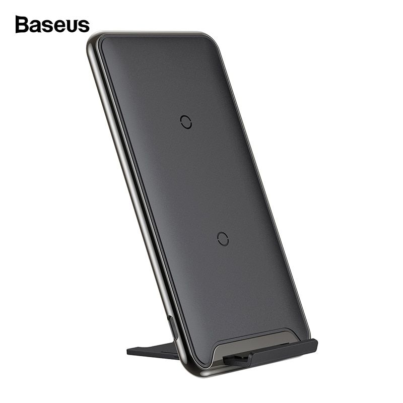 Baseus 10W QI Wireless Charger For iPhone Xs Max Xr X 8 Samsung Note 9 8 Fast Wirless Wireless Charging Pad Docking Dock Station