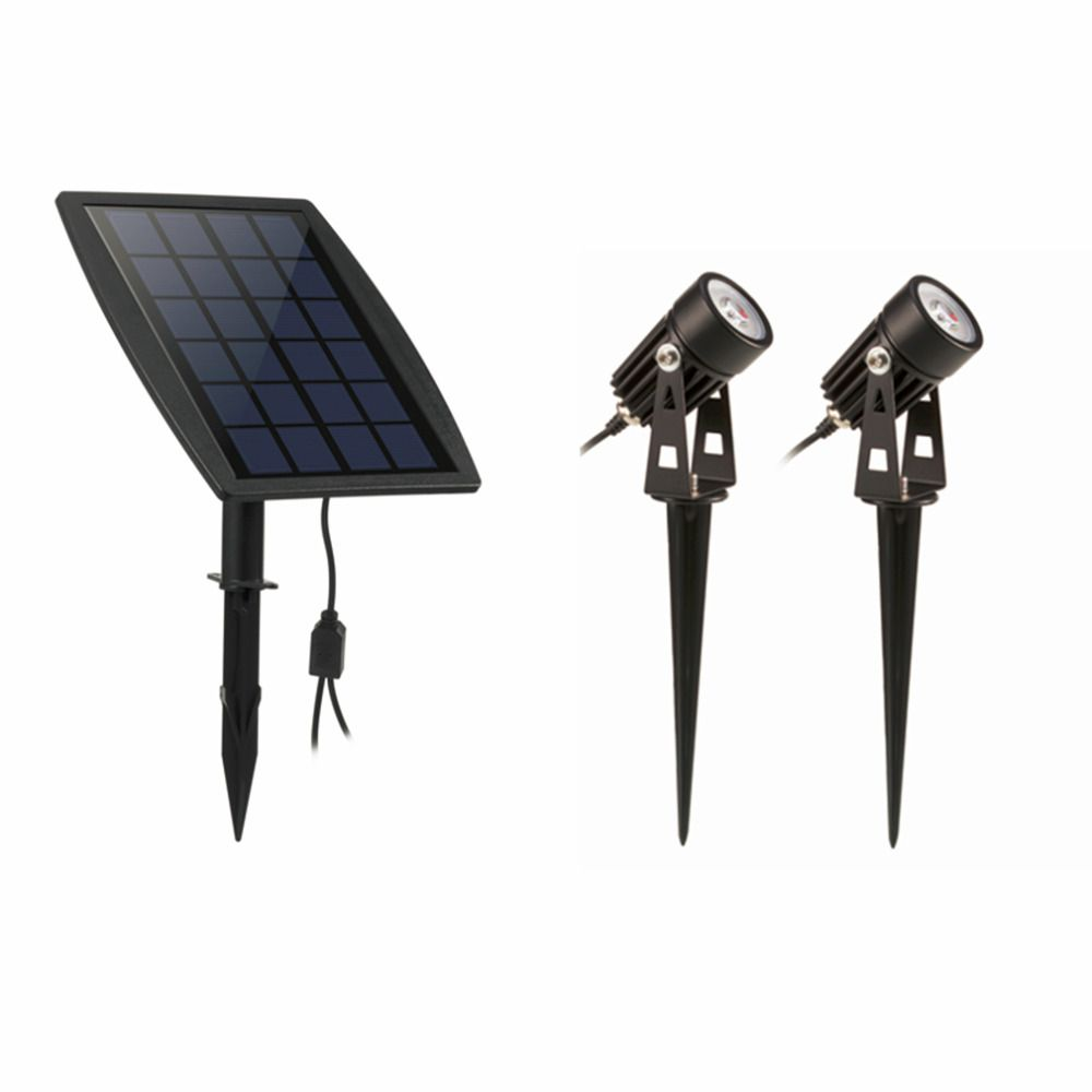 Waterproof <font><b>IP65</b></font> Outdoor Garden LED Solar Light Super Brightness Garden Lawn Lamp Landscape Spot Lights