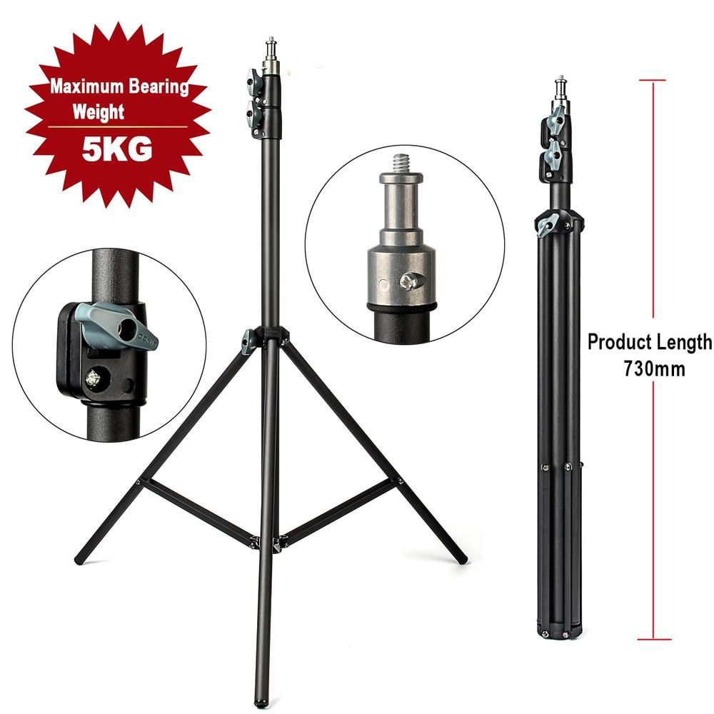 2M Light Stand Tripod With 1/4 Screw Head Bearing Weight 5KG For Studio Softbox Flash Umbrellas Reflector Lighting Flashgun Lam