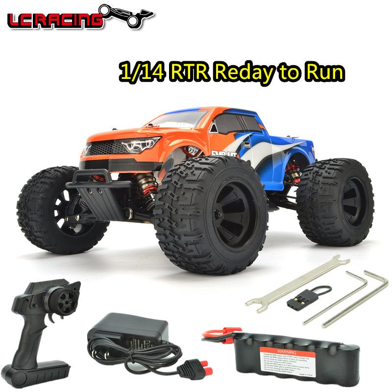 LC RACING/Taco 1:14 EMB MT Brushless motor Off Road 4WD RC Car Chassis RTR assembled Professional control toys