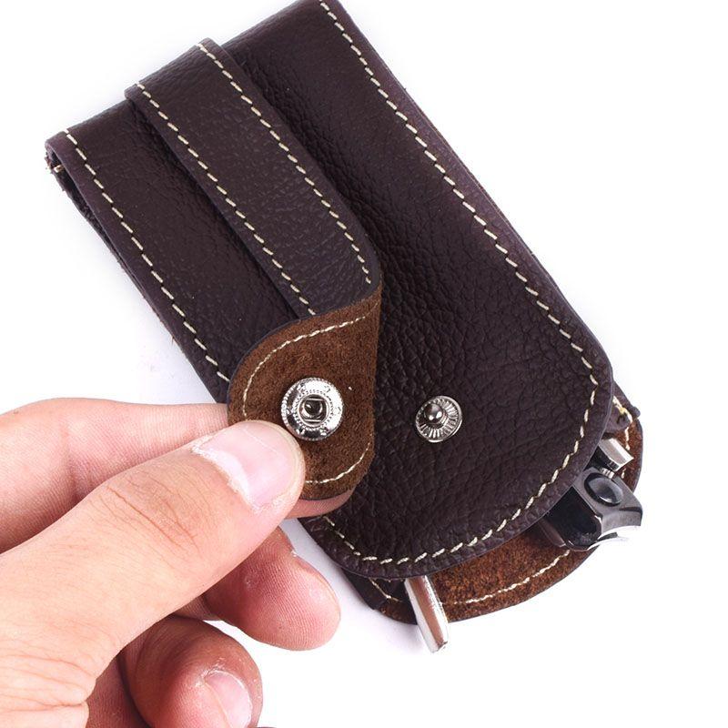 Porte-clé de voiture en cuir véritable souple moraillon pour femme organisateur de ménage porte-clés de voiture porte-clé