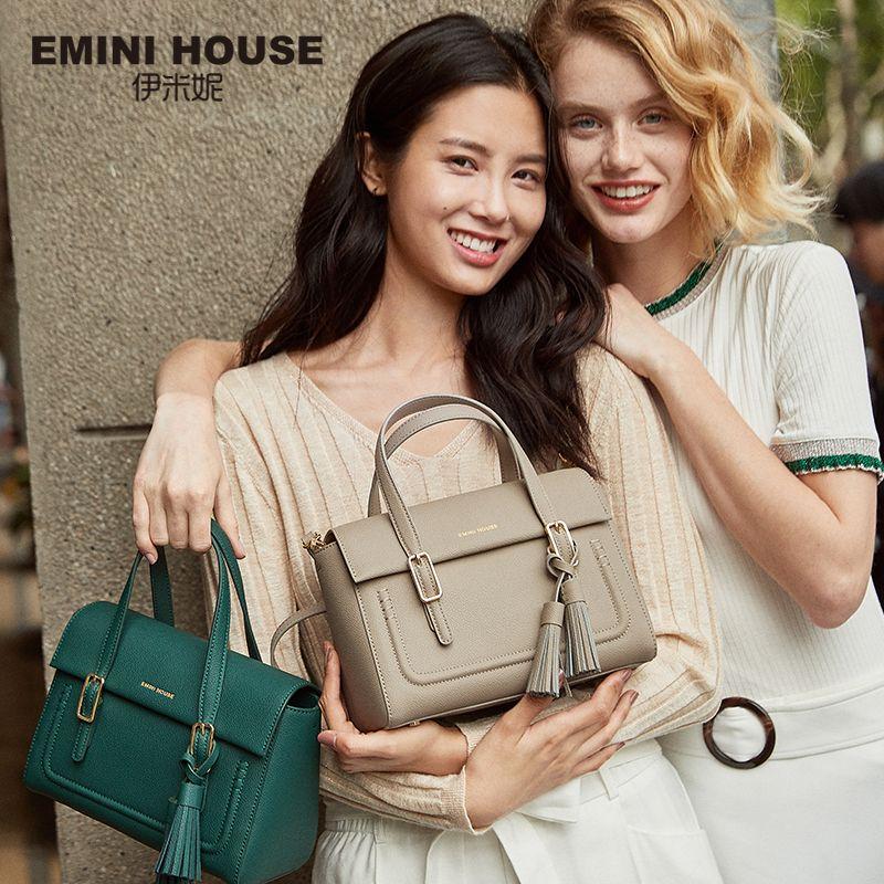 EMINI HOUSE Tassel Bags For Women 2018 Luxury Handbags Women Bags Designer Split Leather Crossbody Bags For Women Shoulder Bag