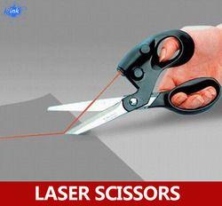 Лазерная направляющая Скрапбукинг пошив ножницы для резки бумаги, лазерные ножницы легко отрезать прямую линию