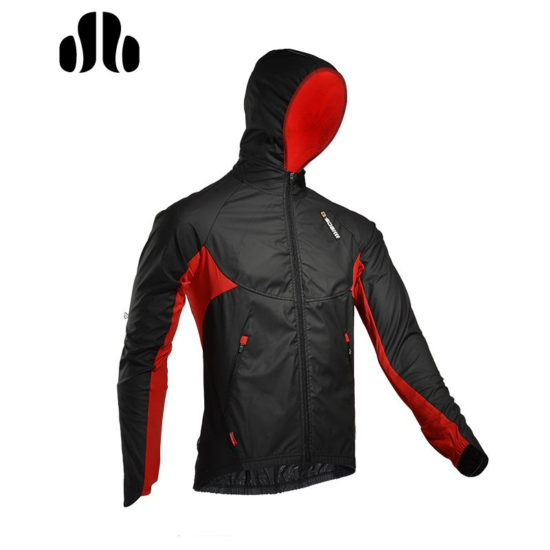 LANCE SOBIKE WINDOUT Winter Outdoor Cycling Jersey Windproof Breathable Riding Coat Men Women Long Sleeves Hooded Clothing