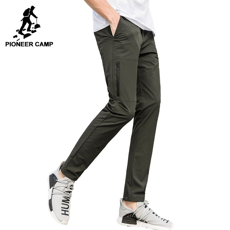 Pioneer Camp New quick drying pants men brand-clothing waterproof stretch trousers male quality dark blue army green AXX705098