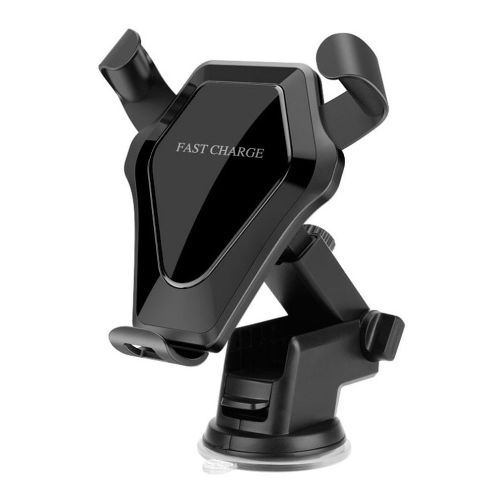 Multi-funtion Qi Wireless Car Charger Phone Mount Holder Fast Charge with Suction Base & Air Vent Clip for Qi-enabled Devices