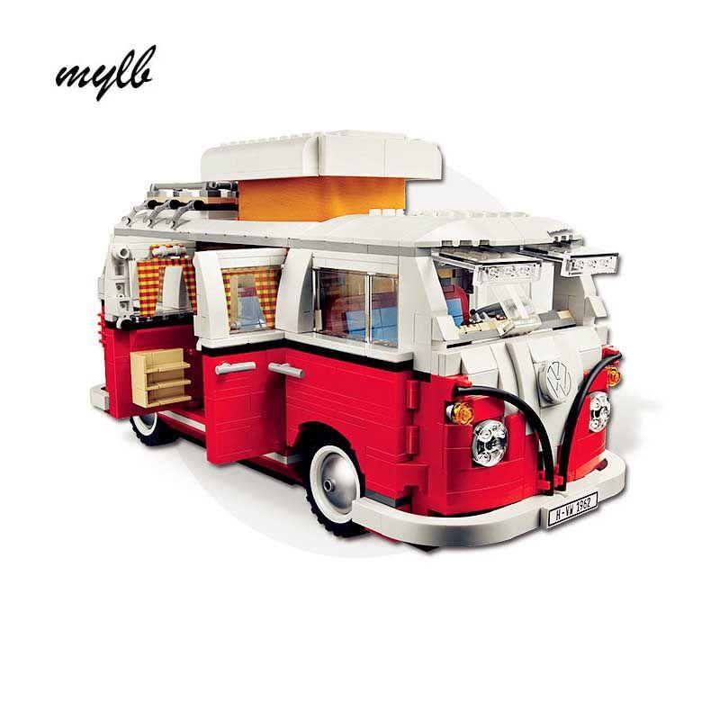 mylb 1354Pcs New Volkswagen T1 Camper Van Model Building Kits Bricks Toys <font><b>Compatible</b></font> with DIY