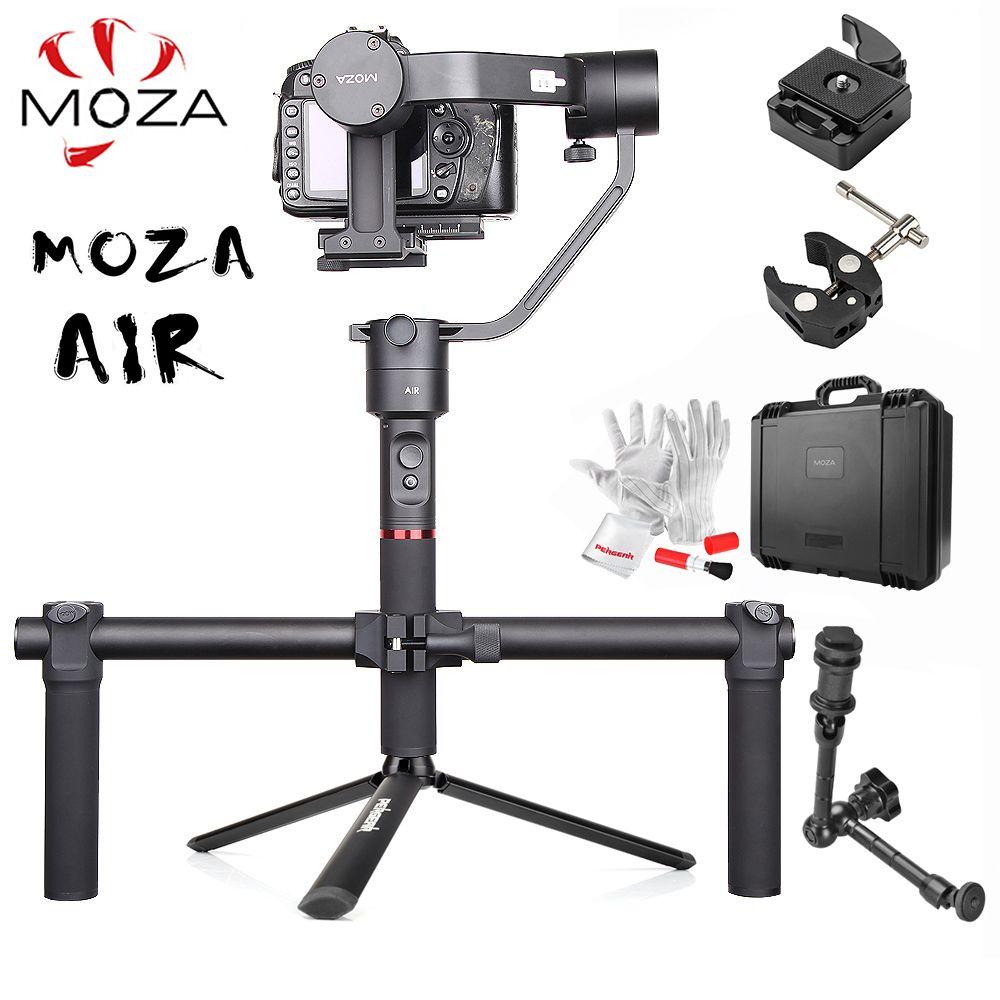 MOZA Luft 3-Achse Handheld Gimbal Stabilisator w/Dual Handheld Grip Magie Arm 360 Unbegrenzte Rotation für Sony a7 GH5 GH4 PK Zhiyun