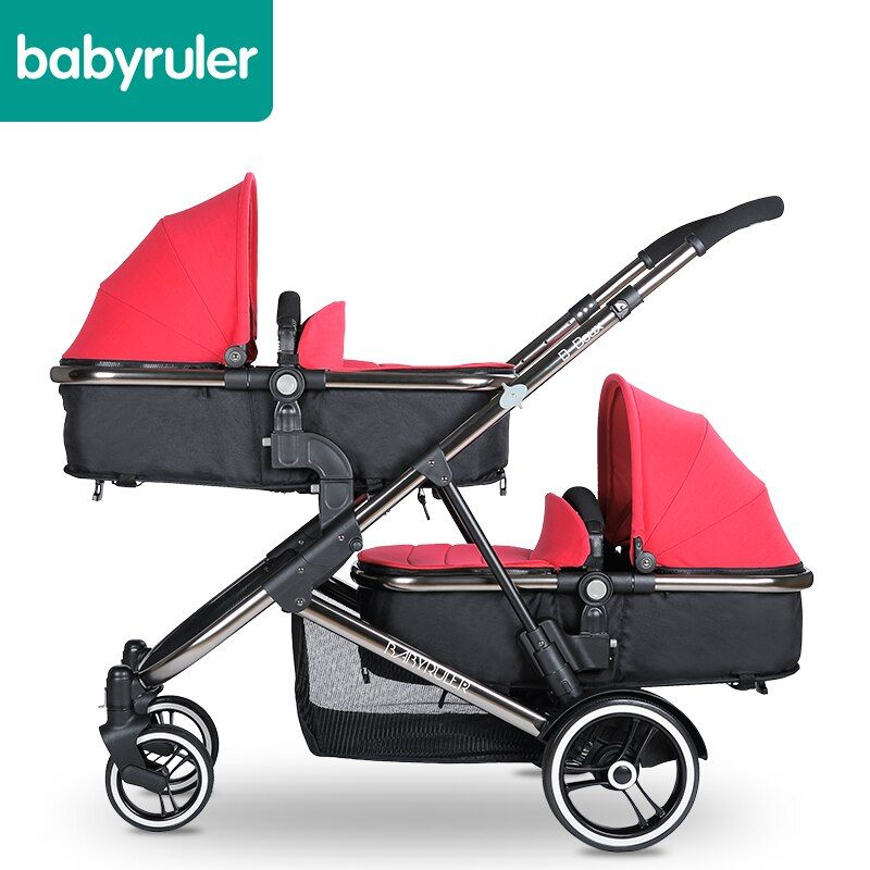 Marke baby-zwillinge kinderwagen Babyruler twins kinderwagen falten kinderwagen kinderwagen