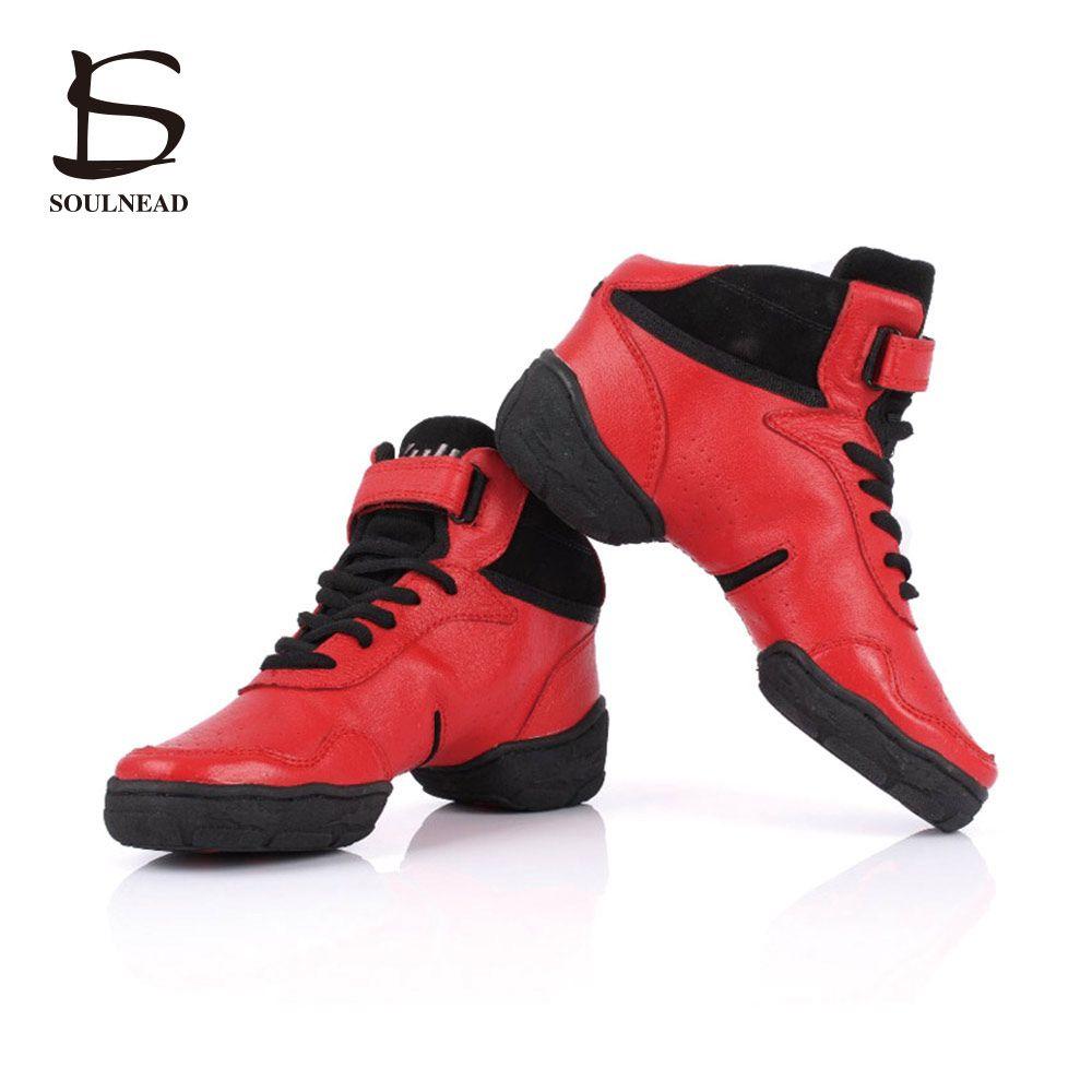 Salsa Dancing Shoes for Women/Men Sneakers Dance Shoes Genuine Leather Modern Jazz Men Leather Sneakers Women Plus size 27.5cm