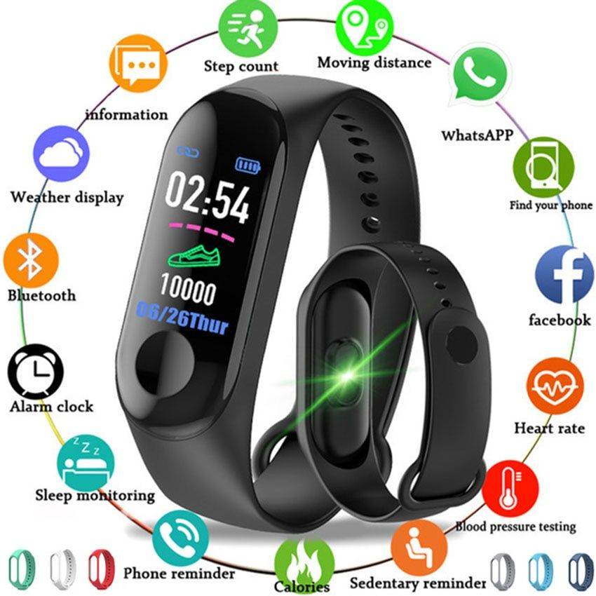 Cheap L3 Smart Band Fitness Bracelet Heart Rate Monitor Watch Smartband Activity Tracker For IOS/Xiaomi/Honor PK Mi Band 2/3/4
