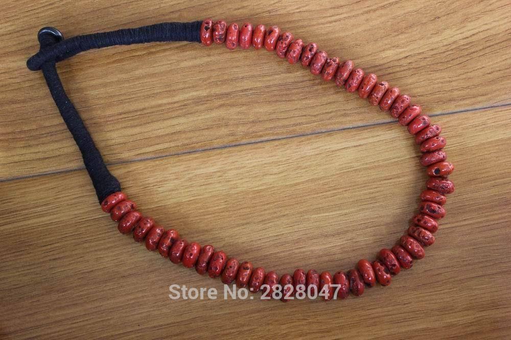 NK185 bijoux tibétains Vintage perles de corail rouge femmes collier fait à la main népal collier de perles de corail antique