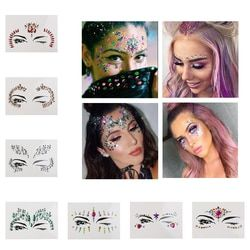 Temporary Rhinestone Tattoo Stickers Face jewels Gems Festival Party Makeup Body Art Gems Flash Tattoo Sticker Stage Make Up