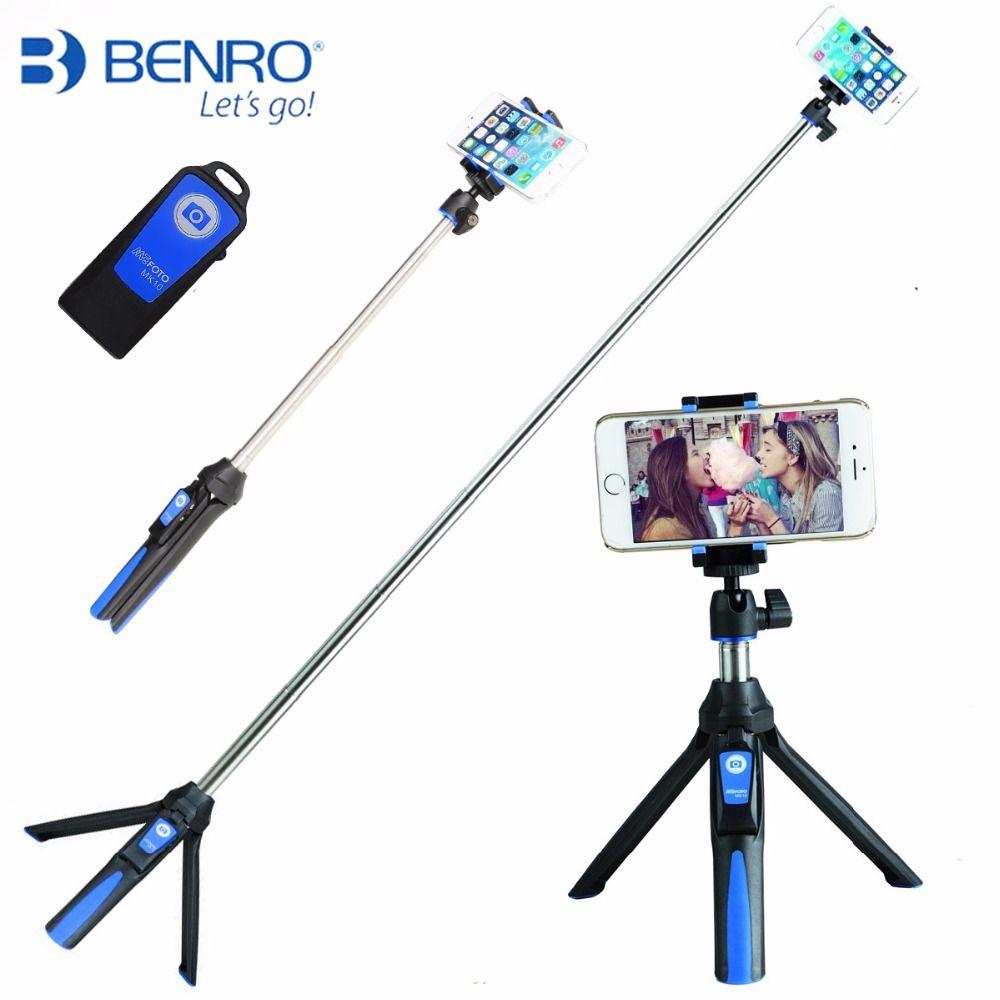 Benro Mefoto MK10 Mini Mobile Tripod For phone, Gopro ,Camera Bluetooth Control Selfie Stick Portable Tripod For Phone Mini DSLR