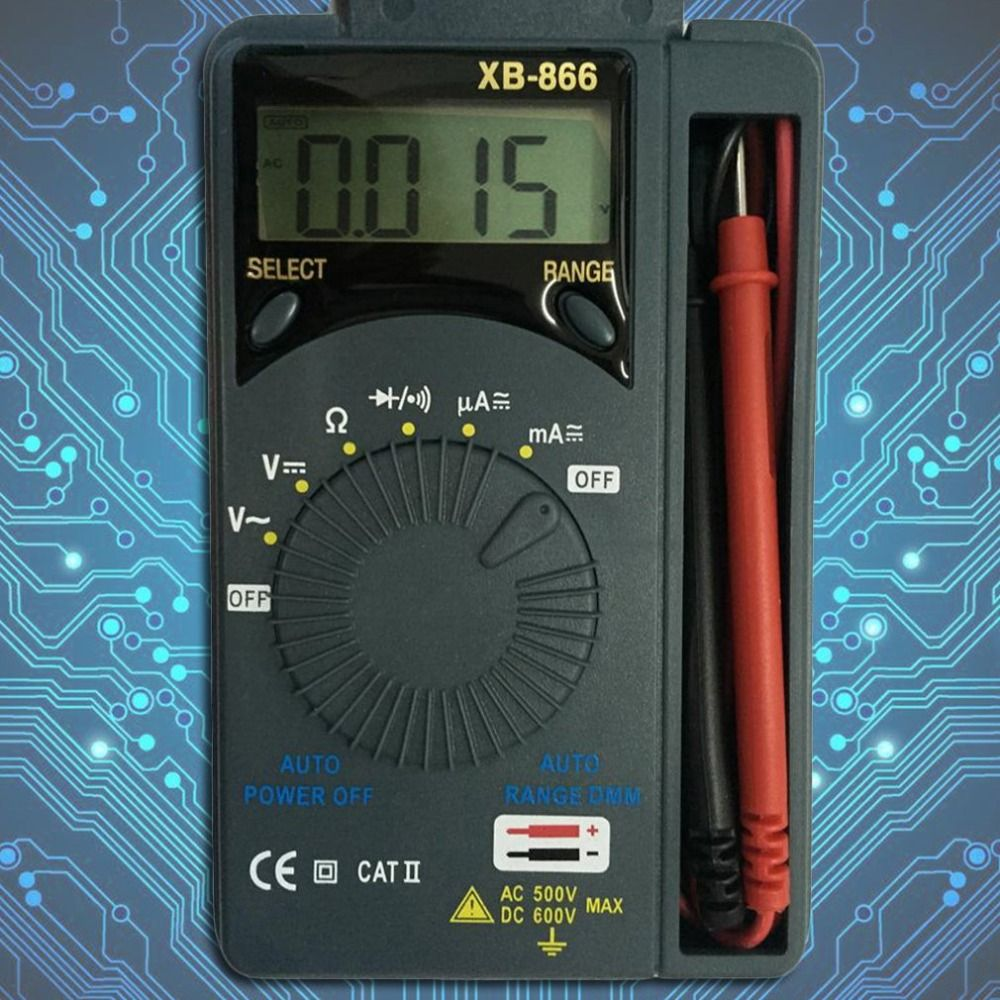 Professional AC/DC Pocket Digital Multimeter LCD Mini Auto Range Multitester Voltmeter Tester Diagnostic Tool Fluke mastech