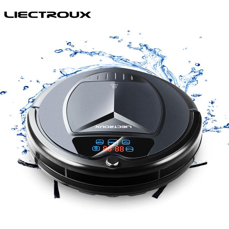 LIECTROUX Roboter Staubsauger B3000Plus LED Touchscreen Selbst Aufladen Saug Outlet Fernbedienung Anti-herbst Sensor