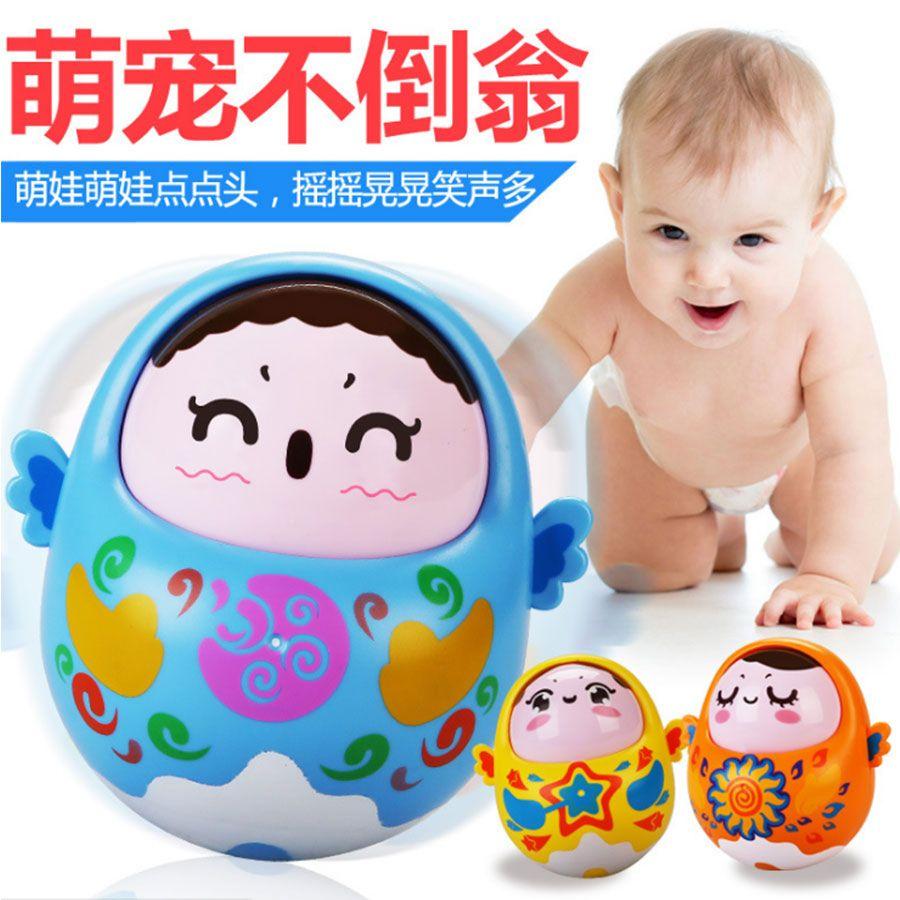 Baby Toys Cartoon Tumbler Doll Musical Rattles Toys For baby toys for babies Mini Children baby Toy Matlyoshka Tumbler doll