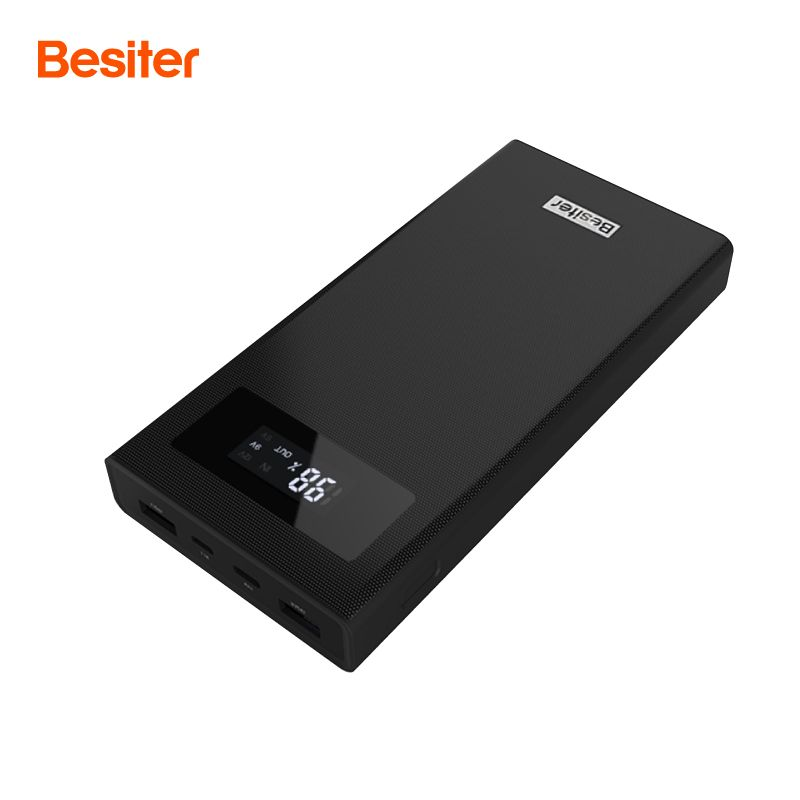 Besiter <font><b>Power</b></font> Bank 20000 mAh For Xiaomi Mi 2 Quick Charge 3.0 PowerBank Portable Charger External Battery For iPhone Pover Bank