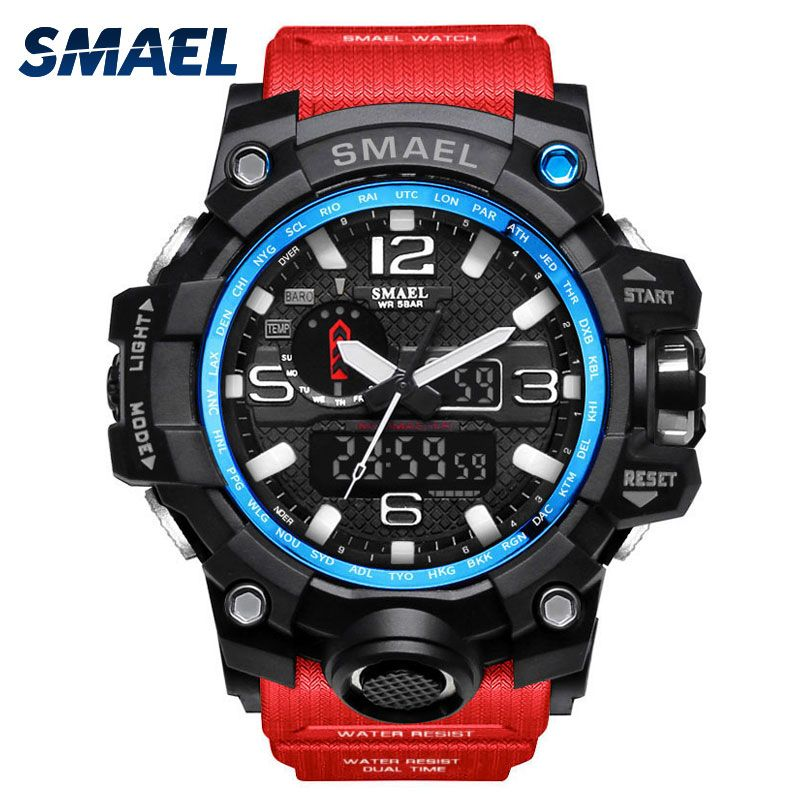 SMAEL Luxury Brand Mens Sports Watches LED Digital Clock Fashion Casual Watch Digital 1545 relogio militar Clock Men Sport Watch