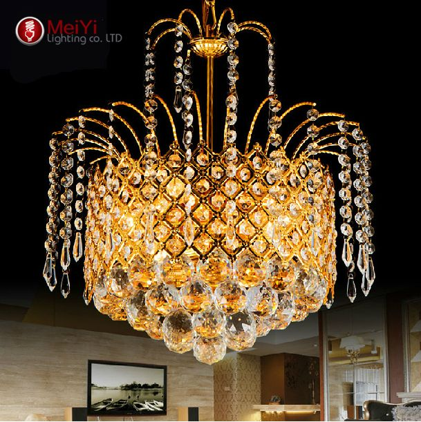 2015 Gold Crystal Chandelier Lamp Luxury Crystal Fixture Lights Lusters de cristal Chandeliers Ceiling For Living Room