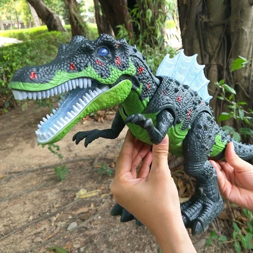 Qualité 51 cm Électrique jouet grande taille de marche dinosaure robot Avec Sound Light Brachiosaurus Batterie Exploité kid Enfants Cadeau