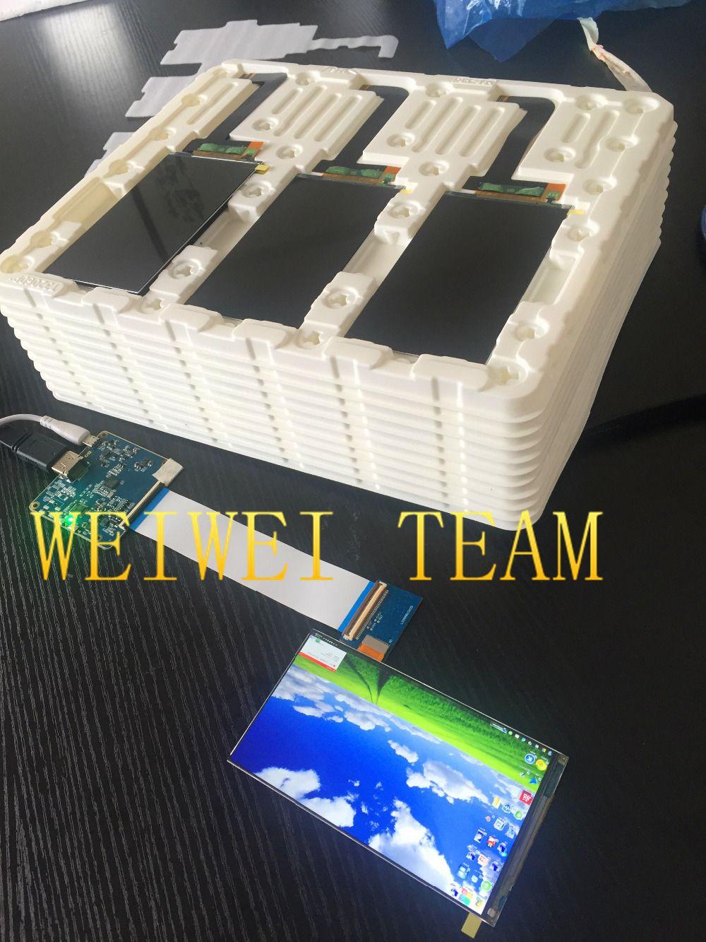 5.5 pouces 2 k 1440 P 1440*2560 résolution ips panneau mipi interface écran lcd avec hdmi à mipi pour imprimante 3D/projecteur vidéo