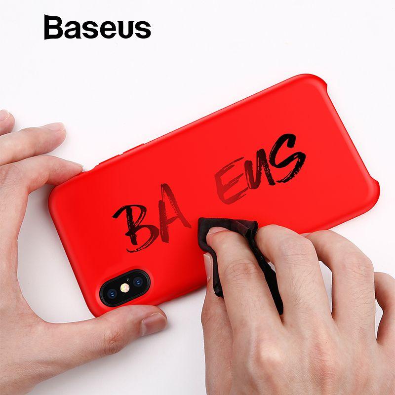 Baseus Luxus Flüssigkeit Silikon Fall Für iPhone Xs Max Glatte Candy Farbe Silizium Fall Für iPhone Xs Xs Max XR coque Telefon Abdeckung