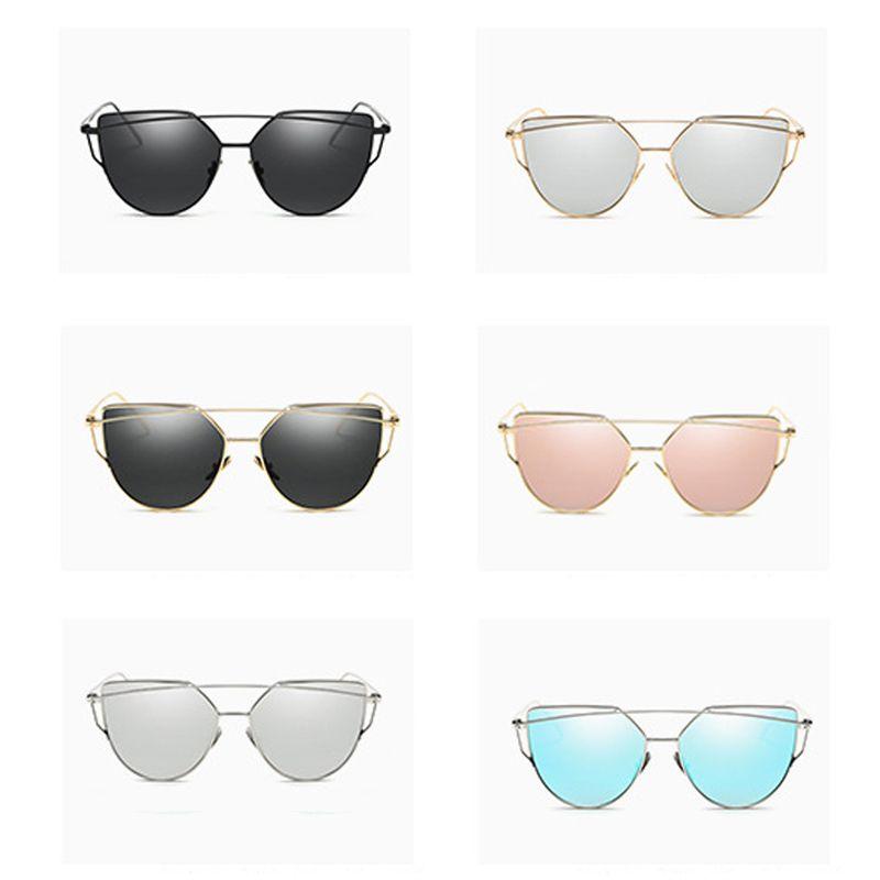 Fashion Sunglasses KF101-117 For Women Glasses Male Mirror Sunglasses Men Glasses Female Vintage Gold Glasses