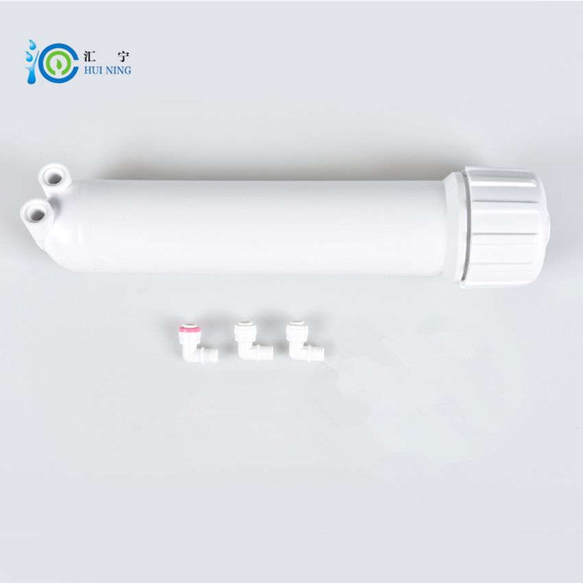 75G/100G Reverse Osmosis 1812 ro membrane shell Water Filter Parts and Water Filter Connector with 3 Pcs Elbow