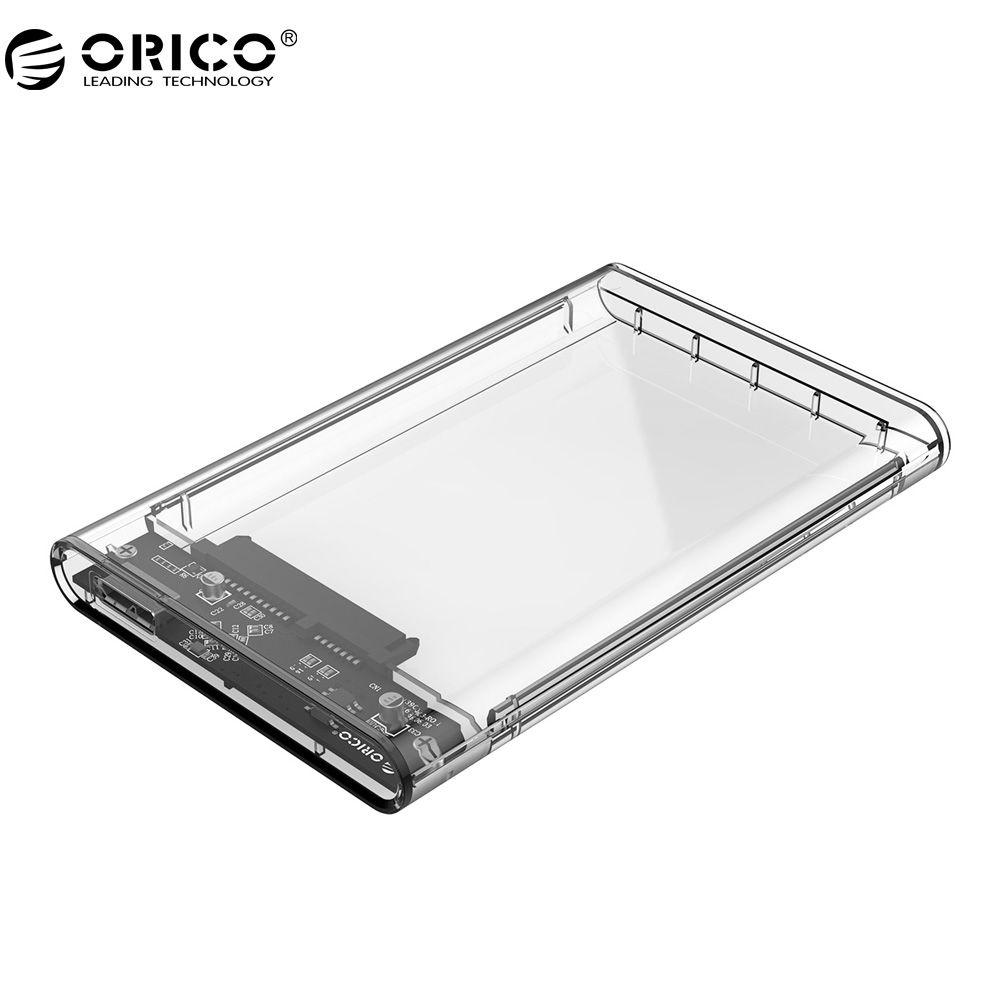ORICO Hard Drive Enclosure 2.5 inch Transparent USB3.0 Hard Drive Enclosure Support UASP protocol