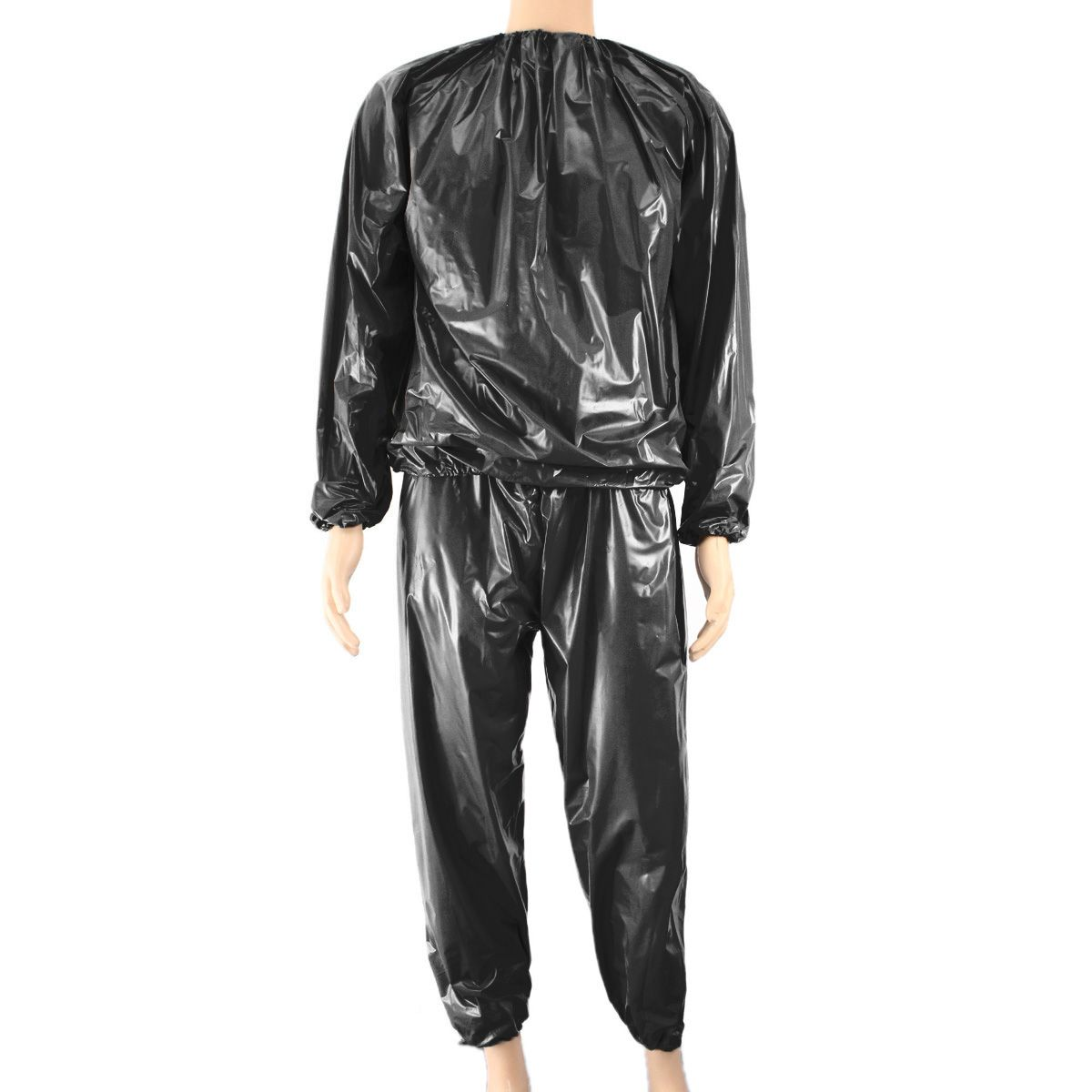 Fitness Waterproof PVC Heavy Duty Sauna Suit Sweat Clothes Gym Training Slimming Workout Weight Loss Sauna Clothes L XXXL 4XL