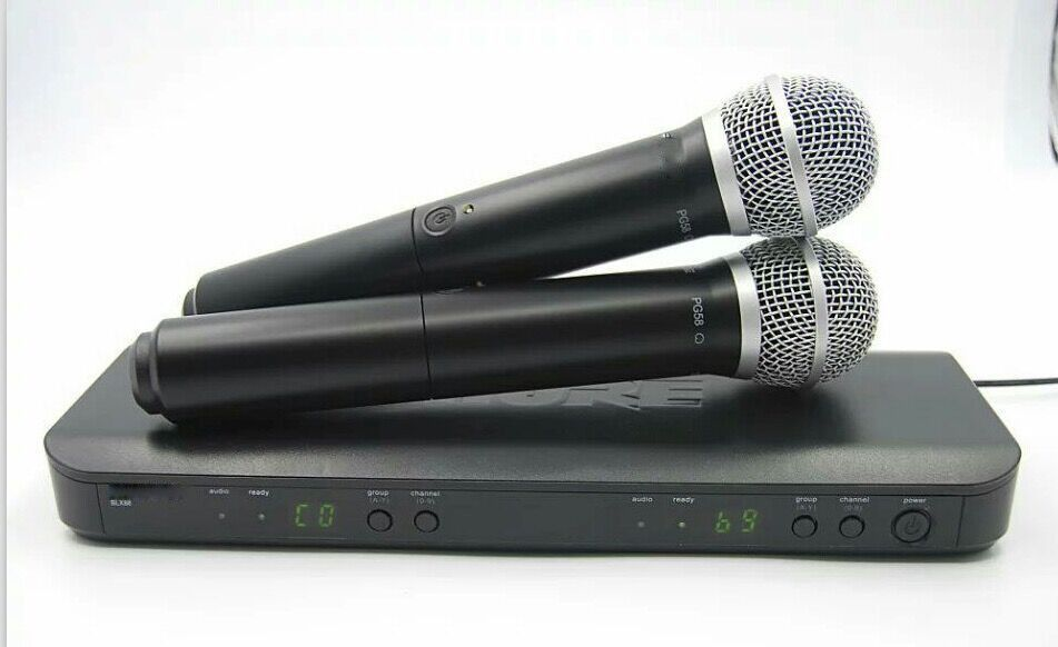 For Reseller! Professional UHF Wireless Microphone System Dual Handheld Mic Channel Selectable PRO CORDLESS DUAL MICROPHONE