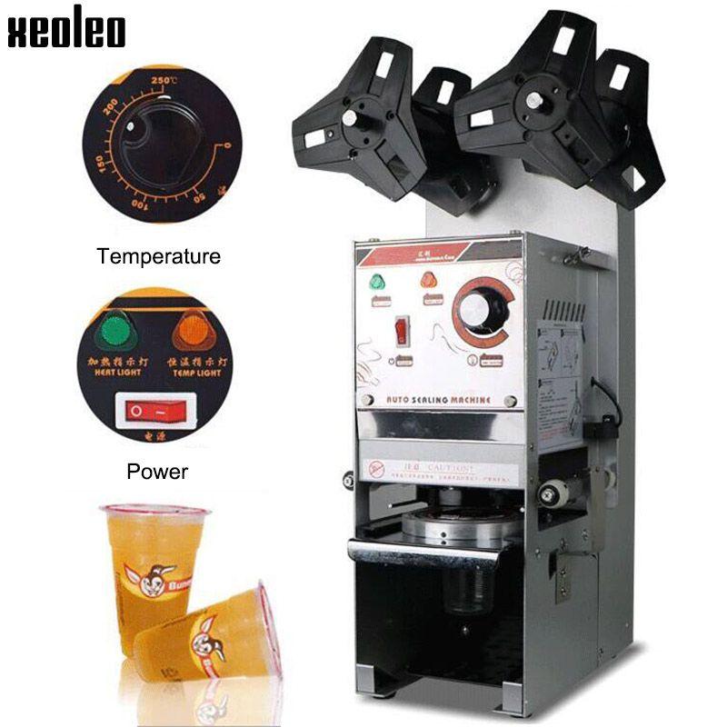 Xeoleo Automatische Tasse dicht maschine Blase tee maschine 220 V Tasse sealer für Kaffee/Milch tee/Soja milch tasse 9,5/9 cm Max 17 cm Hohe