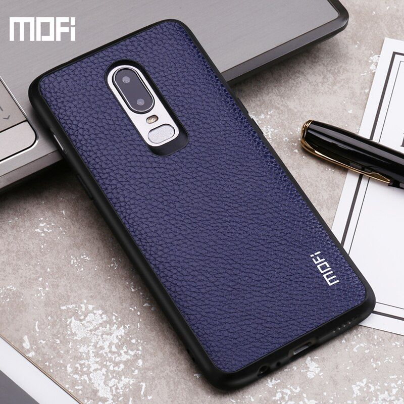 Mofi Oneplus 6 case cover PU leather one plus 6 case back cover red black blue 1+6 oneplus6 case capa coque funda protect 6.28