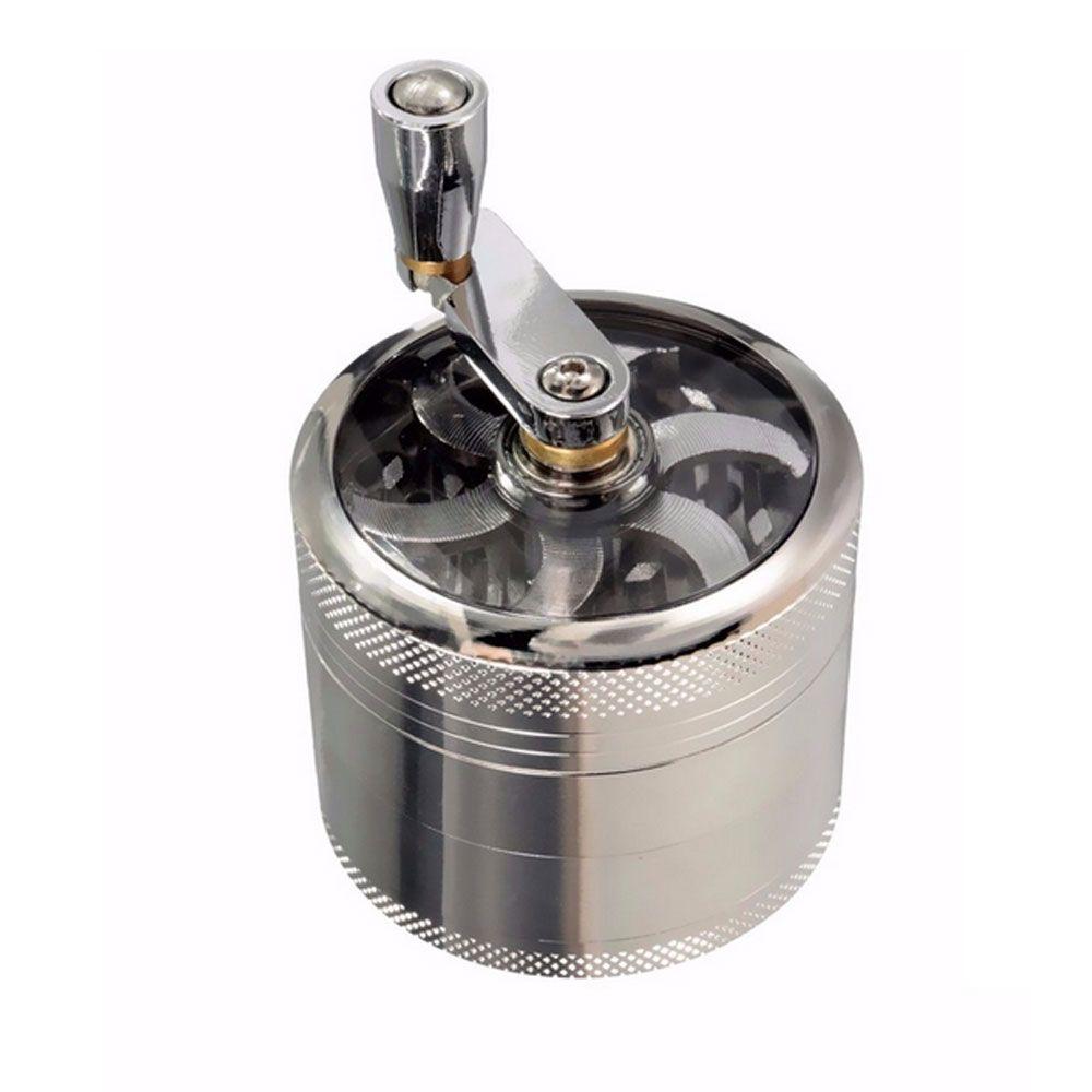 55mm moulin à main avec poignée en alliage de zinc feuille moulin à poivre parfait pour les herbes et épices broyage double couche système et filtre