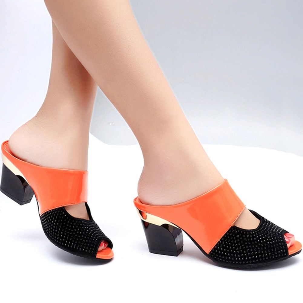 Karinluna 2019 remise femme sandales tongs en gros talons hauts d'été sandales chaussures pour femmes femme fête date pantoufles
