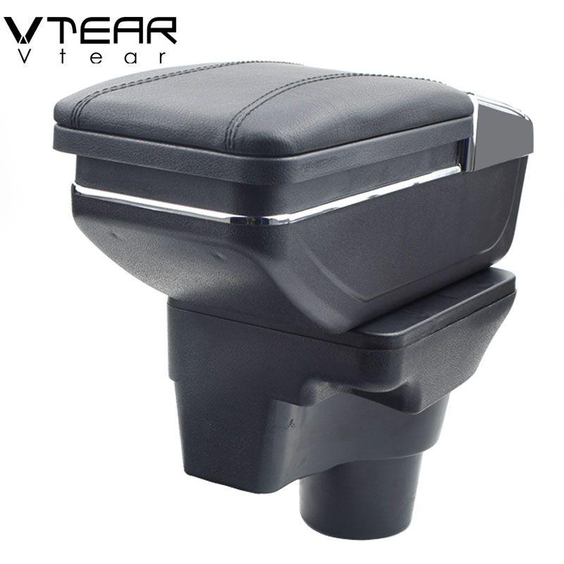 Vtear For 2017 KIA Rio 4 Rio X-line armrest box central Store content box cup holder ashtray interior car-styling accessories