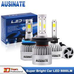 Turbo H1 светодиодный фар автомобиля H4 высокое для ближнего и дальнего света светодиодный лампы на основе технологии COB H3 H7 H8 H9 H11 H13 HB3 HB4 H27 свето...