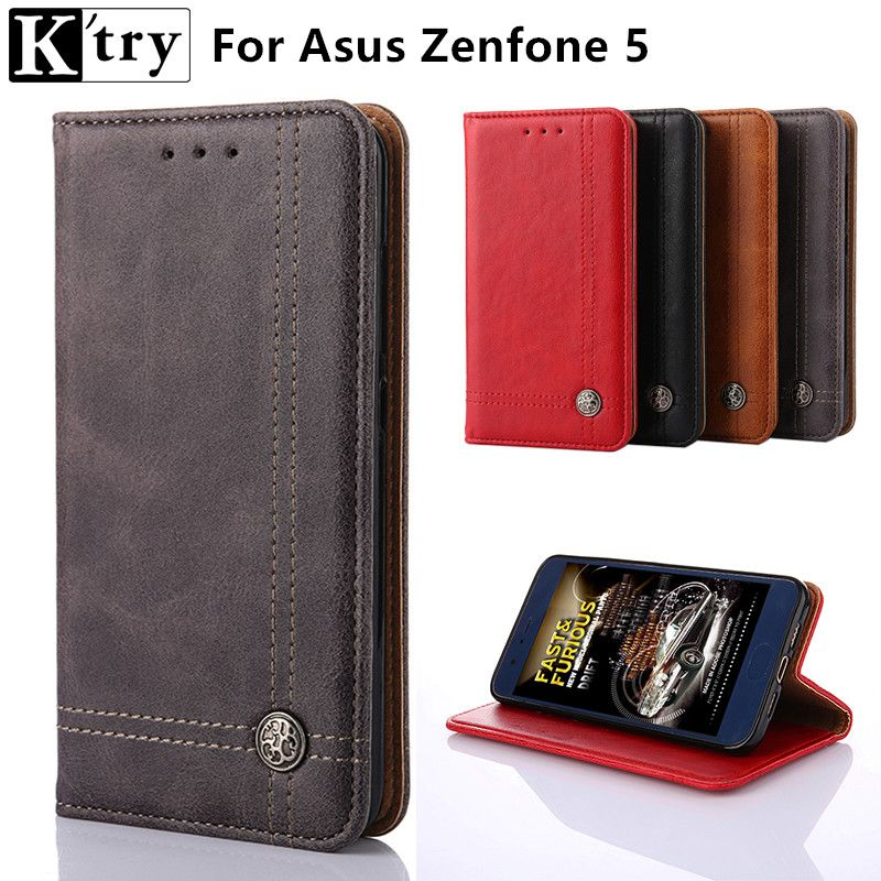K'try Wallet Case for Asus ZenFone 5 A501CG A500KL PU Leather Flip Cover For ASUS Zenfone 5 Fashion Cases with Kickstand