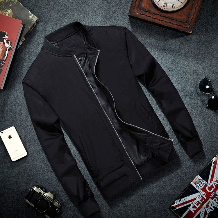 MRMT 2019 Brand Mens Bomber Jacket Thin Men Baseball Jackets Coat Solid Color Casual Jacket Overcoat For Male Clothing