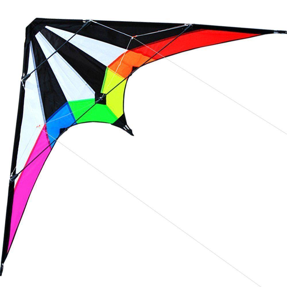 Sports de plein air nouveaux cerfs-volants cascadeurs double ligne 48/71 pouces/cerf-volant arc-en-ciel avec poignée et ligne bon vol