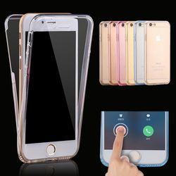 360 derajat penuh Tubuh Telepon Kasus untuk iPhone 7 6 8 Ditambah X 5 5 S SE Lembut Silicone Tpu penutup funda untuk iPhone 8 6 S 7 Ditambah kasus capa