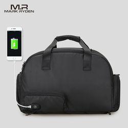 علامة رايدن الرجال سفر حقيبة سعة كبيرة حقائب مقاومة للماء للرجال الأعمال متعددة الوظائف USB تغذى الأمتعة حقيبة