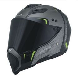 Envío Gratis motocross off-road moto casco hombres personalidad cara completa tirón locomotora cuatro carretera casco de seguridad