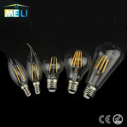 Vintage Edison Ampoule LED E27 E14 Rétro Filament LED Lampe 2 W 4 W 6 W 8 W LED Lumière En Verre Ampoule 220 V 240 V Lampada Ampoule LED Bombilla