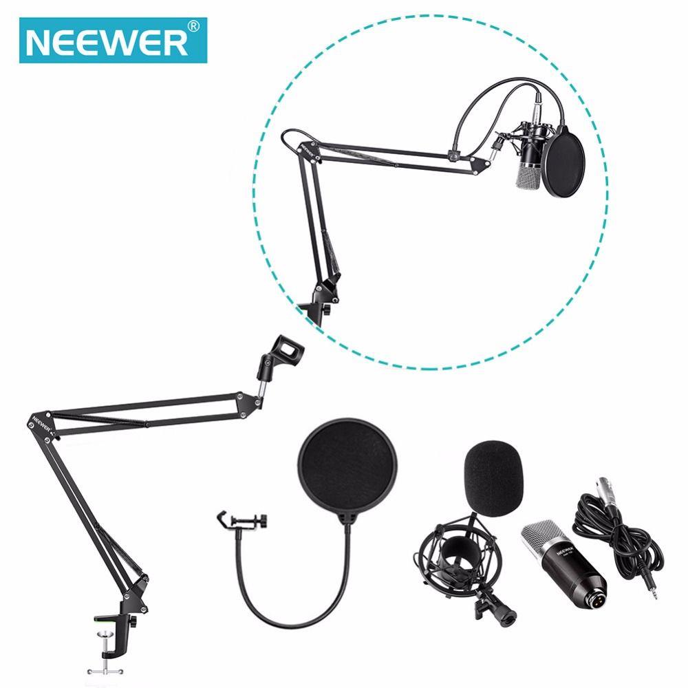 Neewer NW-700 Professionnel Studio de Radiodiffusion Enregistrement Microphone À Condensateur Kit avec Microphone stand et Shock Mount