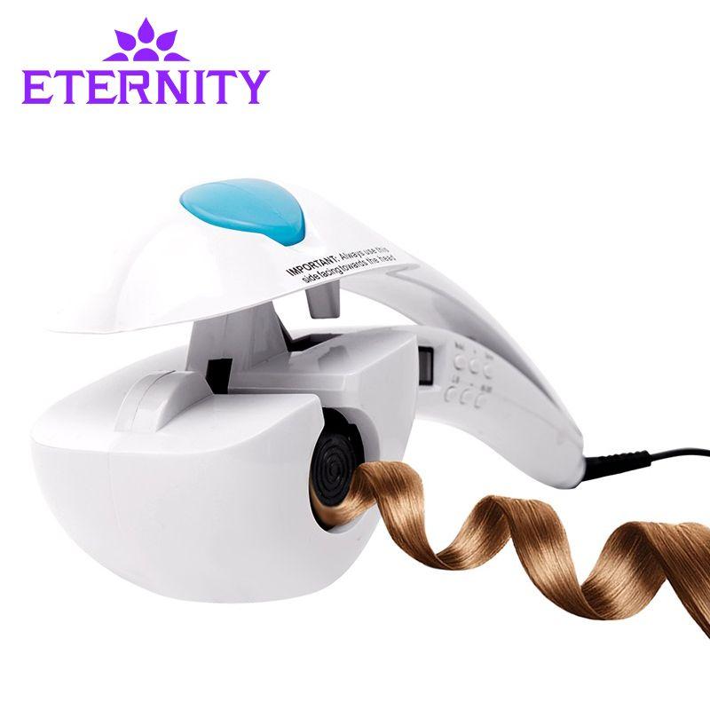 Турмалин Керамика Для женщин для завивки волос автоматического щипцы для завивки спираль Уход за волосами детей спрей для укладки бигуди с ...